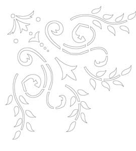 khuôn trang trí hoa văn st60-80089