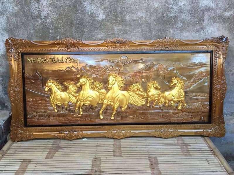sơn vàng lá trên gỗ 07