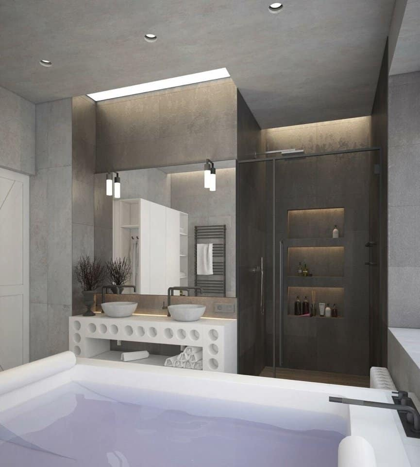 sơn bê tông trang trí nhà tắm