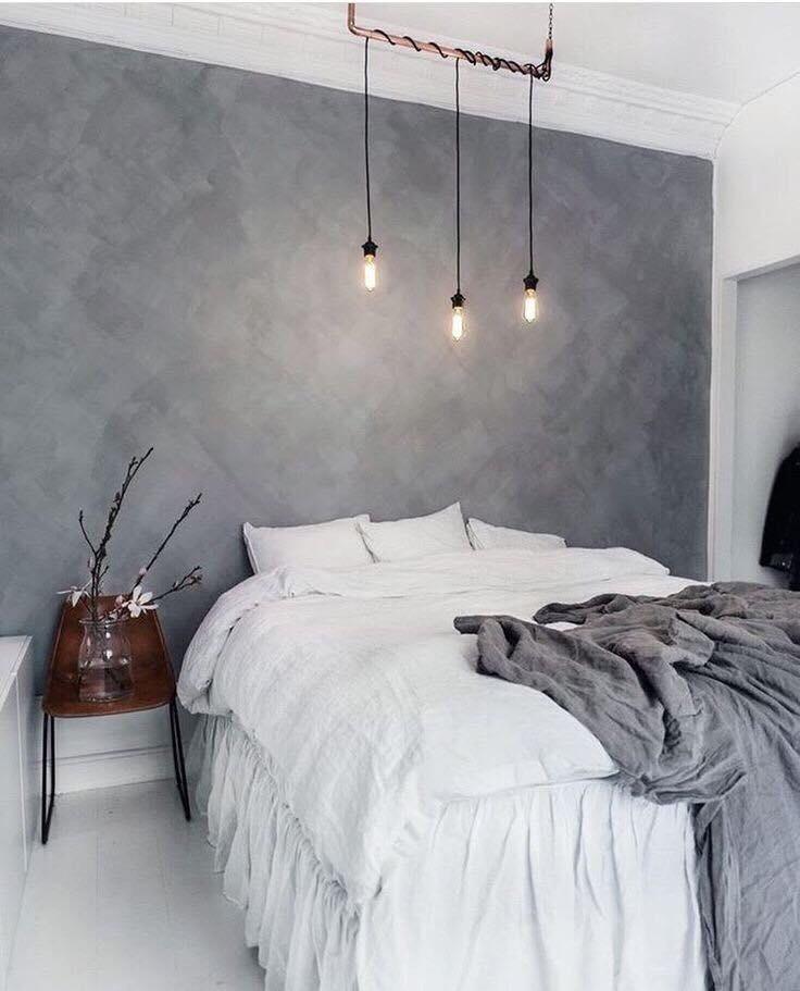 sơn bê tông pukaco trang trí phòng ngủ