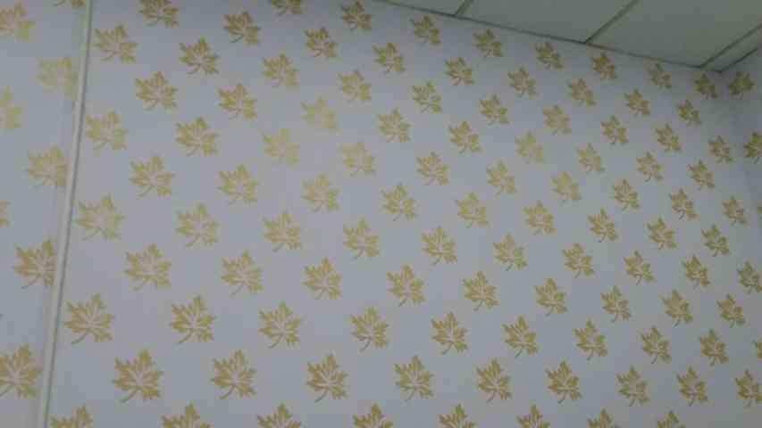 sơn hoa văn trang trí tường theo phong cách hiện đại