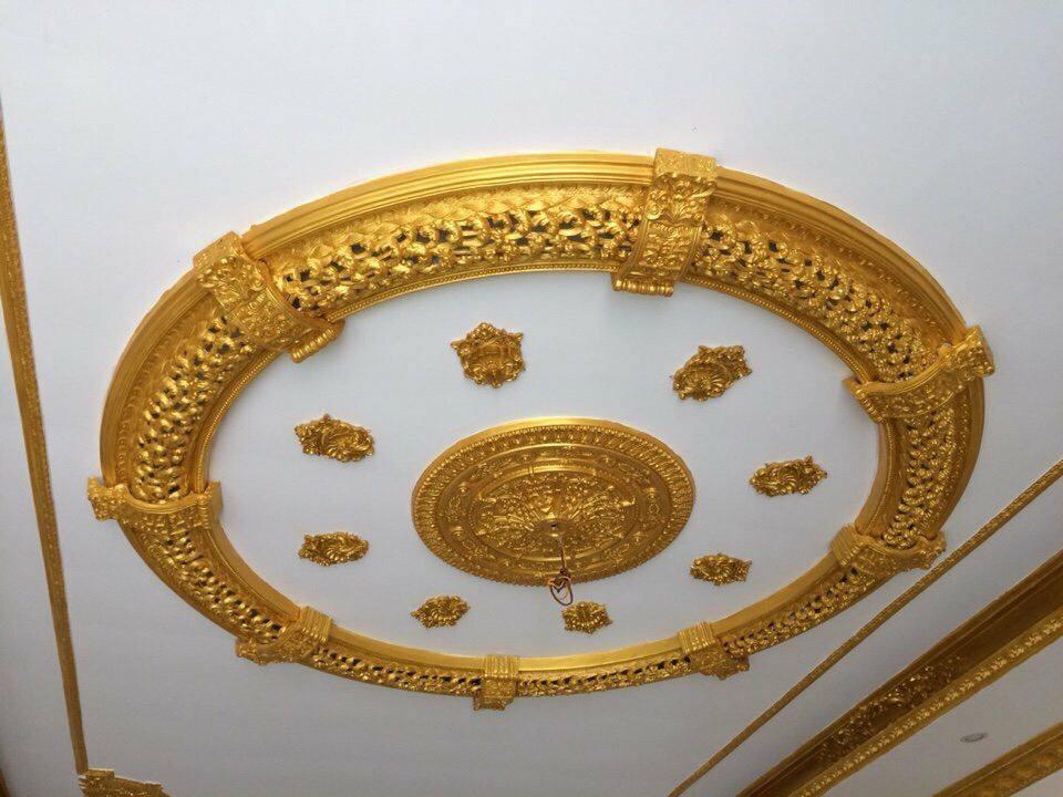 sơn nhũ vàng lên trần nhà